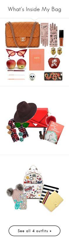 """What's Inside My Bag"" by valeriatonks ❤ liked on Polyvore featuring Chanel, Gucci, Danielle Nicole, Kieselstein-Cord, Zero Gravity, Alexander Wang, L.K.Bennett, Penguin Random House, Chimi and Deborah Lippmann"