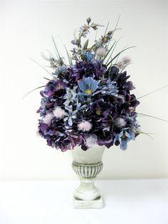 Fall Tuscany Style Purple Hydrangea Slate by SandyNewhartDesigns