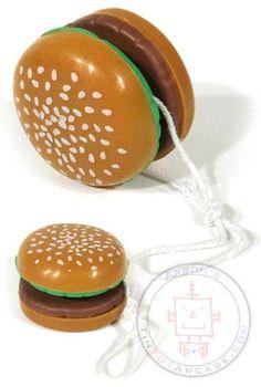 Hamburger YoYo.  TinToyArcade.com