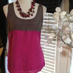 LOFT silk top Beautiful top , gorgeous colors , 100% silk , excellent condition LOFT Tops Blouses