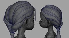 3d hair mesh - Google Search