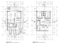 Best House Plans, Modern House Plans, Small House Plans, House Floor Plans, Architecture Plan, Residential Architecture, Indonesian House, Drawing House Plans, Double Storey House Plans