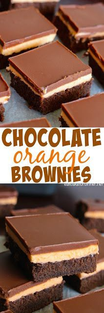 Chocolate Orange Brownies - These brownies melt in your mouth. More (mini chocolate cake mouths) Mini Chocolate Cake, Chocolate Orange, Chocolate Desserts, Orange Brownies, Fudge Brownies, Nutella Fudge, Cookie Desserts, Just Desserts, Delicious Desserts