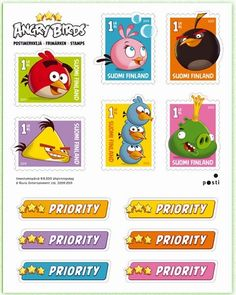 Finland 2013 stamp sheet Angry Birds