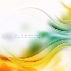 Abstract Orange Green Wave Design Background #freevectors