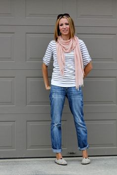 Love these jeans.  Loose.  Relaxed.  Lightly distressed. So comfy!