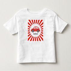 #stripes - #Red Car Toddler T-Shirt
