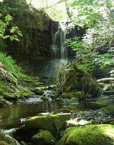 Waterfall near Botton Mill, near Lowgill, Hindburndale, Forest of Bowland, Lancashire, UK
