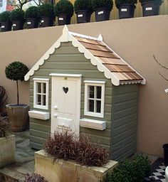 Outdoor playhouses by The Playhouse Company — Heart Home Simple Playhouse, Kids Playhouse Plans, Girls Playhouse, Backyard Playhouse, Build A Playhouse, Wooden Playhouse, Outdoor Playhouses, Playhouse Ideas, Childs Playhouse