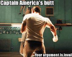 Captain America's butt