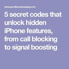 5 secret codes that unlock hidden iPhone features, from call blocking to signal boosting Iphone Secret Codes, Iphone Codes, Iphone 5, Apple Iphone, Unlock Iphone, Cell Phone Hacks, Iphone Life Hacks, Smartphone Hacks, Iphone Hidden Features
