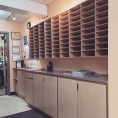 Copy room storage cubbyholes workcounter copy room fax - Interior design jobs washington state ...