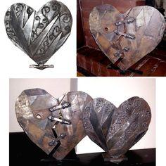 Scrap metal hearts