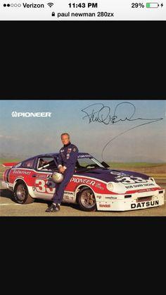 Paul Newman and his Datsun 280zx Race Car.