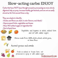 Slow-acting carbs