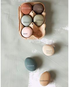FARGEPALETT TIL PÅSKEEGG: Dette er fargene vi brukte til å male eggene påskeklare! Jotun Lady, Paint Stain, Wonderwall, Interior Inspiration, Diy And Crafts, Pure Products, Blog, Design, Face Skin