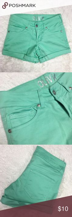 dELiA's Olivia Teal Green Shorts Excellent condition! Size 0 Delia's Shorts