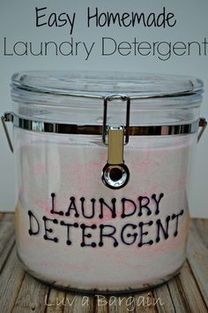 Making your own Homemade Laundry Detergent is easier than you may think. I make a 6 month supply at once for pennies per load. It smells wonderful and cleans amazing! by stella Homemade Cleaning Supplies, Cleaning Recipes, Cleaning Hacks, Homemade Products, Cleaning Solutions, Cleaners Homemade, Diy Cleaners, Household Cleaners, Homemade Laundry Detergent
