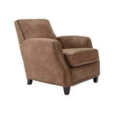 Palance Silt Brown Faux Leather Club Chair - Free Shipping Today - Overstock.com - 18800550 - Mobile