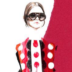 Illustration.Files: Valentino F/W 2014 Fashion Illustration by Meagan Morrison