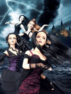 About Witches: Spellbinding Sydney 2005, Ultra Basic Gothic Tyler 2008, Dark Embrace Sydney 2007, Charmed Tyler 2005