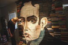 The Los Angeles-based artist Mike Stilkey uses stacks of books as his canvas. Probably now a seasoned book collector, Stilkey found a way to being able to paint on an uneven surface. From only needing a few dozen to about 2000 books, he paints an array of subjects with a mix of ink, colored pencil, paint and lacquer. So far, Stilkey's work has been featured at LeBasse Projects and Kinsey/DesForges in Culver City, CA, and Bristol City Museum among many more.