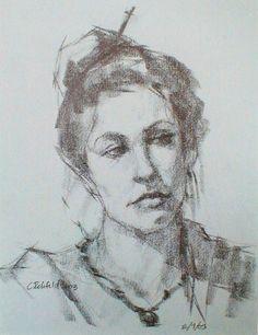 """Emily : Graphite on Toned Paper"" - Original Fine Art for Sale - © Cathleen Rehfeld"