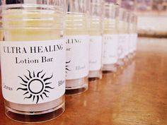 Ultra Healing Lotion Bars    Recipe    2 oz Beeswax    8 oz Sweet Almond Oil    2 oz Shea Butter    3 oz Mango Butter    3 oz Cocoa Butter    One oz blend of your favorite extracts    16 Push Tubes    0.25 oz Fragrance or Essential Oil