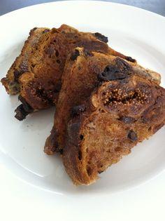 Fruit toast with cinnamon sugar.