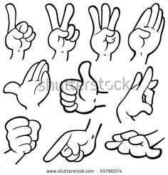 dynamic hand poses for cartoons - Google Search