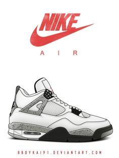 1517017a20947 Air Jordan 4 OG 'White Cement' by BBoyKai91.deviantart.com on @