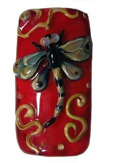 """Red Hot Dragonfly Bead by  Kerri Fuhr... She says, Giving each dragonfly it's own """"personality"""" is a creative challenge I really enjoy!"""