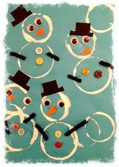 Winter Snowman Craft Activity