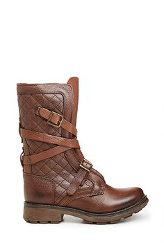 Steve Madden Bounti Quilted Boots in Brown 7 - 10 | DAILYLOOK