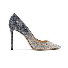 09ab85171f3 Jimmy Choo Romy 100mm glitter pumps (14.645 CZK) ❤ liked on Polyvore  featuring shoes