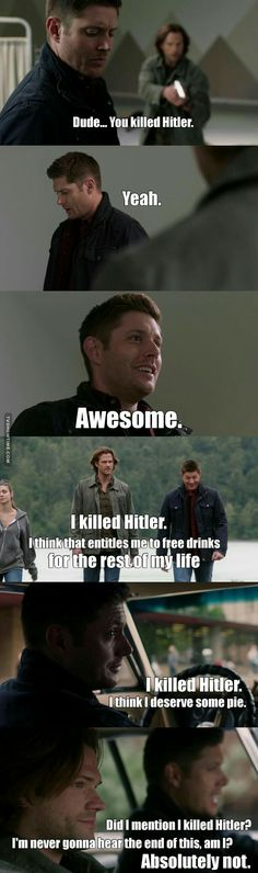 supernatural killed Hitler awesome season 12