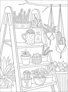 Willkommen bei Dover Publications – Adult Coloring Pages - Malvorlagen Mandala Printable Adult Coloring Pages, Cute Coloring Pages, Free Coloring, Coloring Books, Dover Coloring Pages, Coloring Pages For Adults, Tumblr Coloring Pages, Garden Coloring Pages, Colouring Sheets