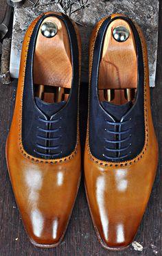 Mens Luxury Shoes : TucciPolo Mono-TB Handmade Special Oxford Italian Leather Mens Dress Shoe
