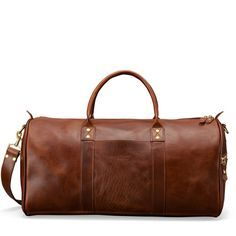 Hulme Continental Leather Duffle, for Everyday or Travel, American Heritage - Travel Leather Luggage Tags, Leather Bags, Leather Handbags, Leather Pieces, 5 W, Leather Handle, Travel Bags, Dust Bag, Brown Leather