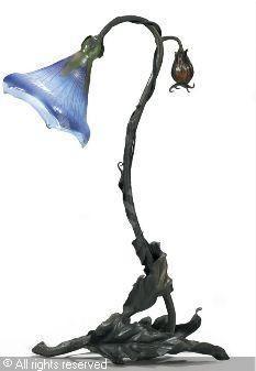 """GALLÉ Emile - Lampe-fleur """" Belle de jour """""""