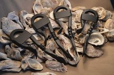 Oyster Knife & bottle-opener.  Set of 4. Be by SeafoodHardware