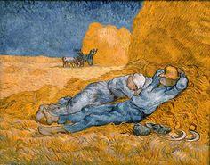 Vincent Van Gogh - The Siesta (La Siesta) fine art preproduction . Explore our collection of Vincent Van Gogh fine art prints, giclees, posters and hand crafted canvas products Art Van, Van Gogh Art, Vincent Van Gogh, Painting & Drawing, Painting Prints, Art Prints, Canvas Prints, Knife Painting, Pastel Drawing