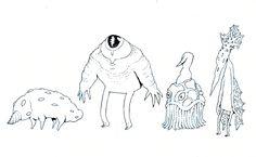 creatures 33 - 36 by lanbridge