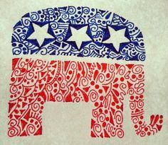 patriotic doodle