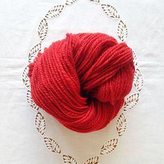 Poppy Handspun Shetland Wool Yarn
