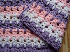 Tutorial - Kitties in a Row Baby Afghan