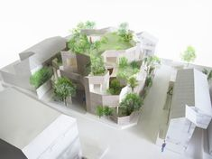 Collective Housing in Tokyo / Akihisa Hirata ⋆ ArchEyes Social Housing Architecture, Japan Architecture, Architecture Office, Architecture Design, Architecture Models, Architecture Concept Diagram, Casa Patio, Arch Model, Green Building