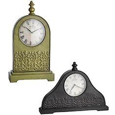 Antiqued Metal Clocks