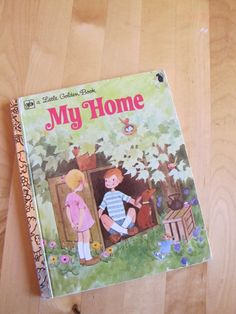 A Little Golden Book   My Home by TheBigBlueMarble on Etsy, $3.75