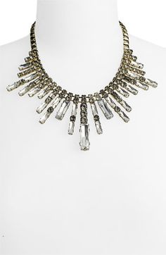Cara Accessories Crystal Spike Frontal Necklace $98 #nordstroms